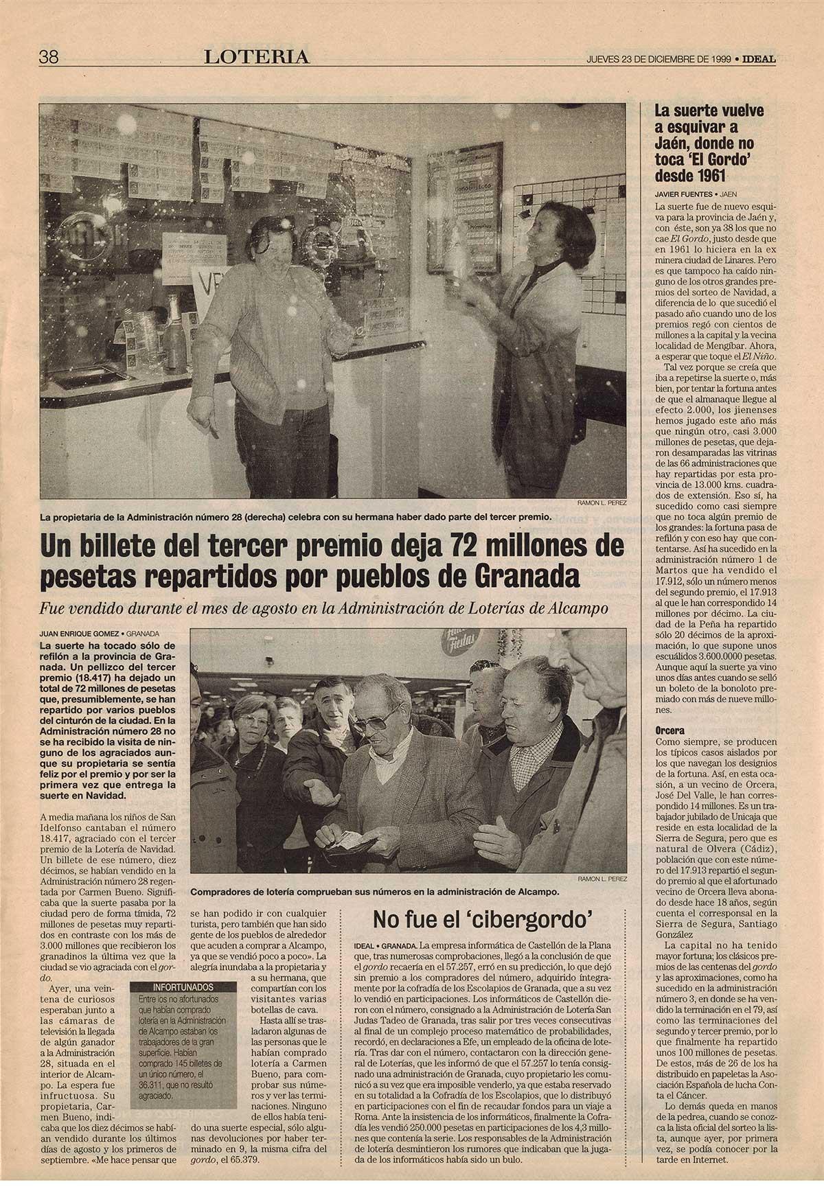 Recorte Ideal 18417 Diciembre 1999 III