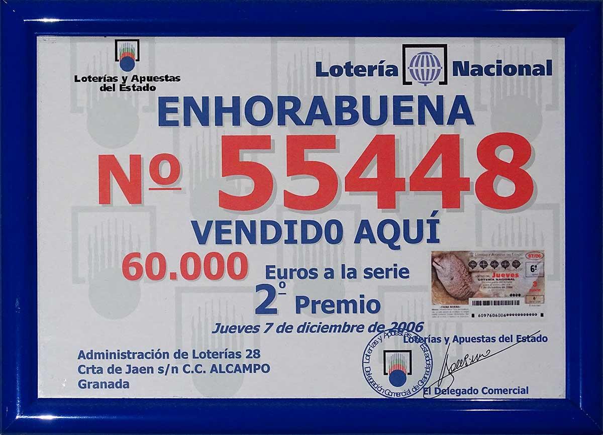 Cuadro Loteria Diciembre 2006