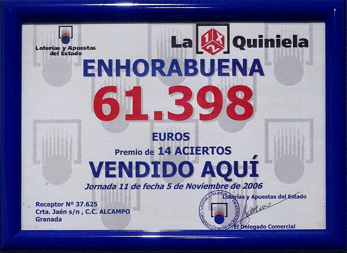Cuadro Quiniela Noviembre 2006